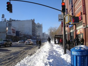125 St. full of snow on Dec. 27