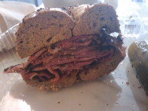 pastrami bagel two